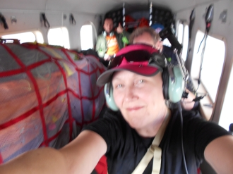 Flying to the Denali Base Camp