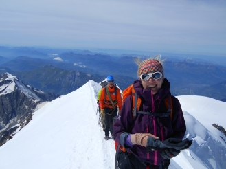 Last steps before the Mont Blanc Summit